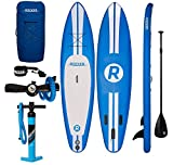 iRocker Paddle Boards Inflatable 11-Feet Long X 6-Inch Thick SUP Package (Blue)