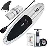 Tower Inflatable 9'10' Stand Up Paddle Board - (6 Inches Thick) - Universal SUP...