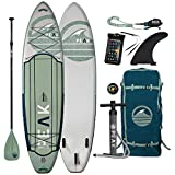 Peak Expedition Inflatable Stand Up Paddle Board | 11' Long x 32' Wide x 6'...