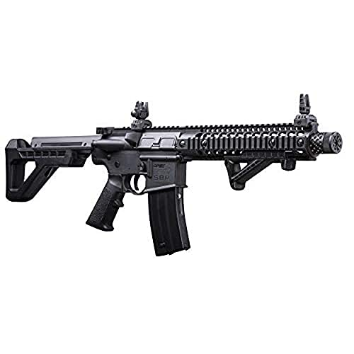 DPMS Full Auto SBR CO2-Powered BB Air Rifle with Dual Action...