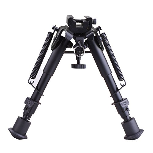 CVLIFE 6- 9 Inches Tactical Rifle Bipod Adjustable Spring Return