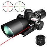 CVLIFE 2.5-10x40e Red & Green Illuminated Scope with 20mm...