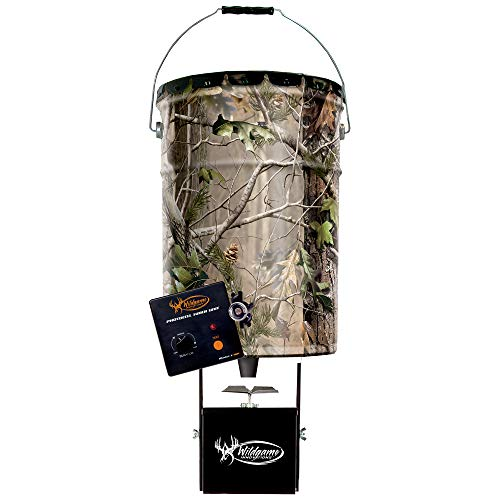 Wildgame Innovations Pail Feeder, Real Tree Camo Steel