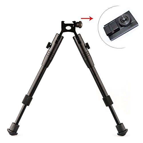 Twod Rifle Bipod CNC QD 6.5 - 9 inch Adjustable Spring Return Bipod