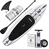 "TOWER Inflatable 10'4"" Stand Up Paddle Board - (6 Inches..."