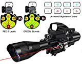 MidTen 4-12x50 Dual Illuminated Scope with Dot Sight & Laser...