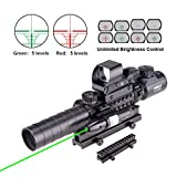 Pinty Rifle Scope 3-9x32 Rangefinder Illuminated Reflex...