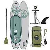 Peak Expedition Inflatable Stand Up Paddle Board — Durable...